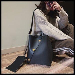 NEW ZOE Rivet Bucket Bag